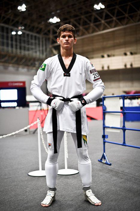 새경기복을 입고있는 브라질의 파울루멜루선수 (사진=세계태권도연맹 제공)
